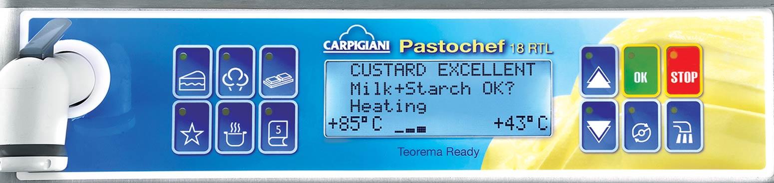 Panel sterowania maszyny cukierniczej Carpigiani Pastochef RTL