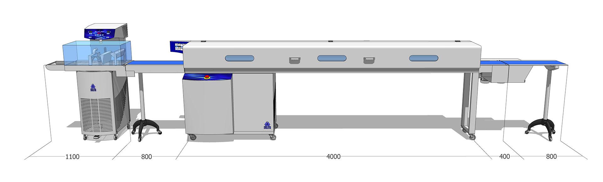 Tunel chłodniczy 250 mm / 4 m z temperówką do czekolady Futura EX