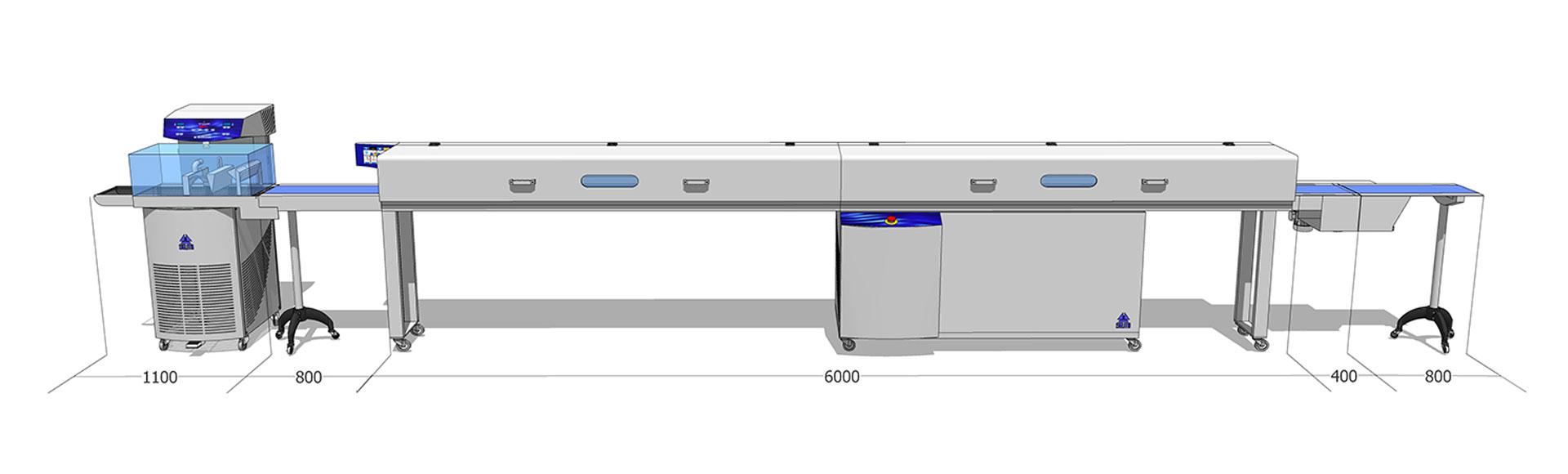 Tunel chłodniczy 300 mm / 6 m z temperówką do czekolady Top EX