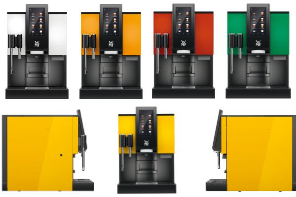 Różne wersje kolorystyczne automatycznych ekspresów do kawy WMF 1100 S